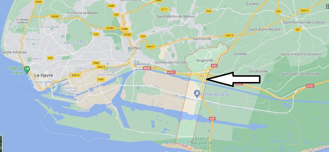 Où se situe Rogerville (76700)
