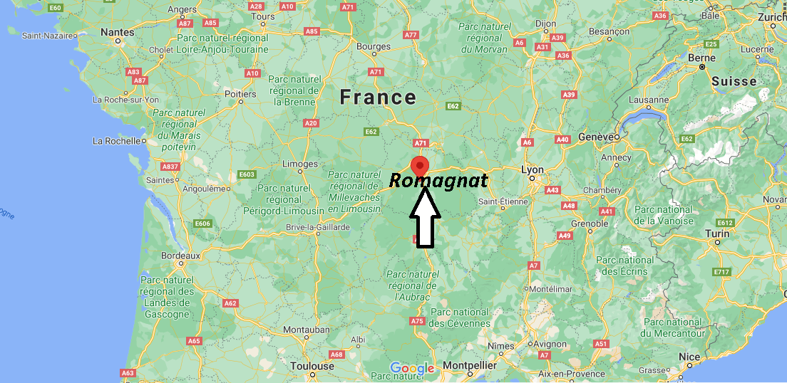 Où se situe Romagnat (Code postal 63540)