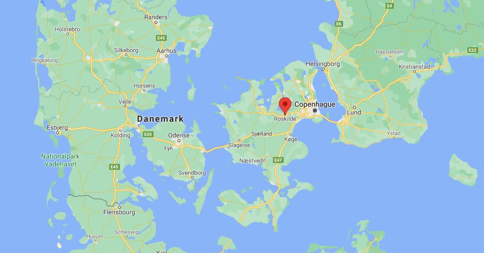 Où se situe Roskilde