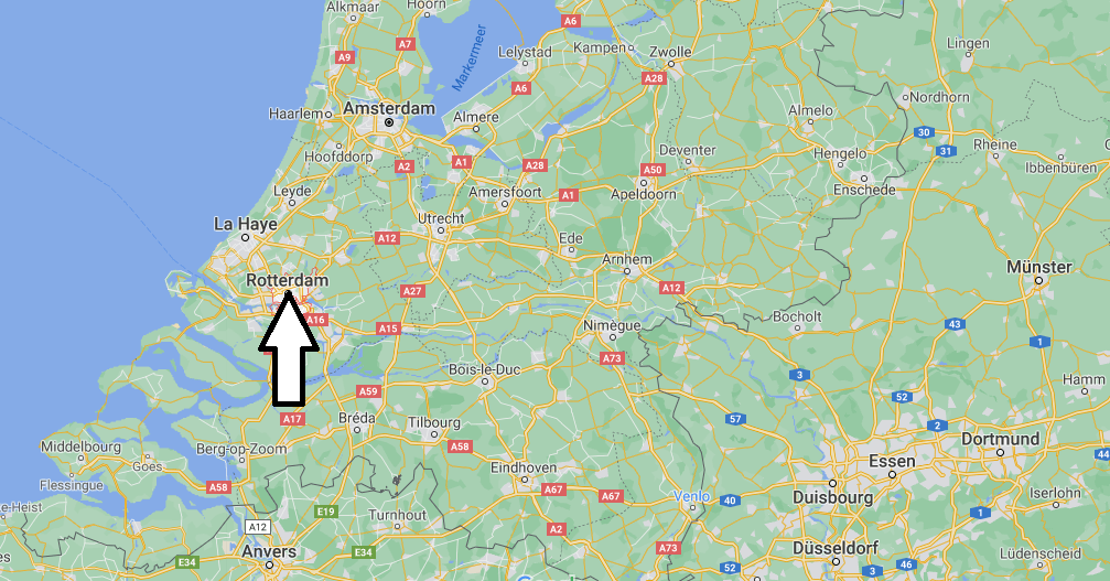 Où se situe Rotterdam