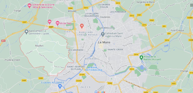 Où se situe Rouillon (72700)