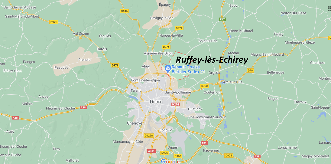 Où se situe Ruffey-lès-Echirey (21490)