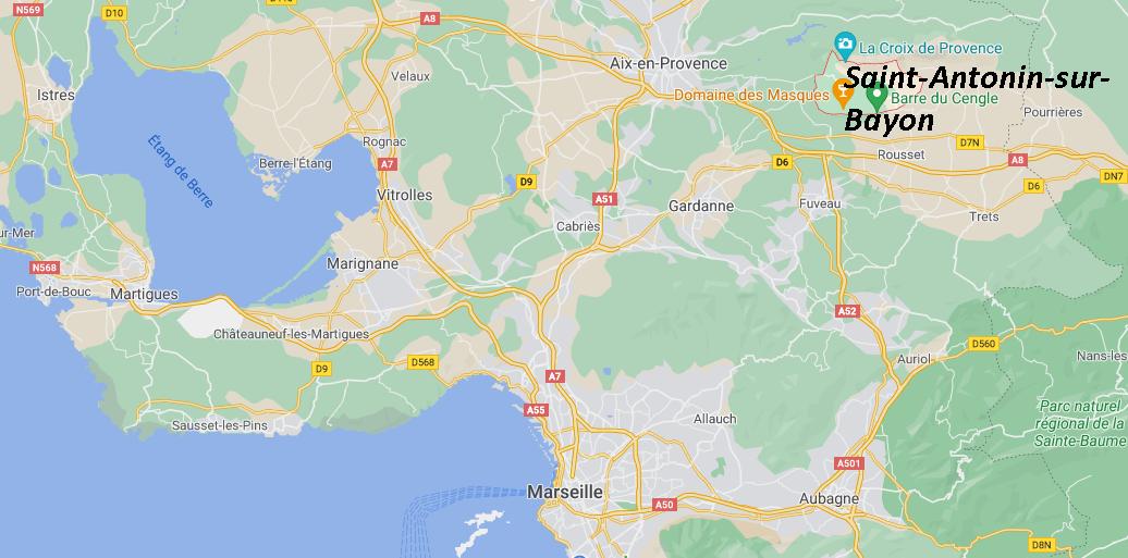 Où se situe Saint-Antonin-sur-Bayon (Code postal 13100)