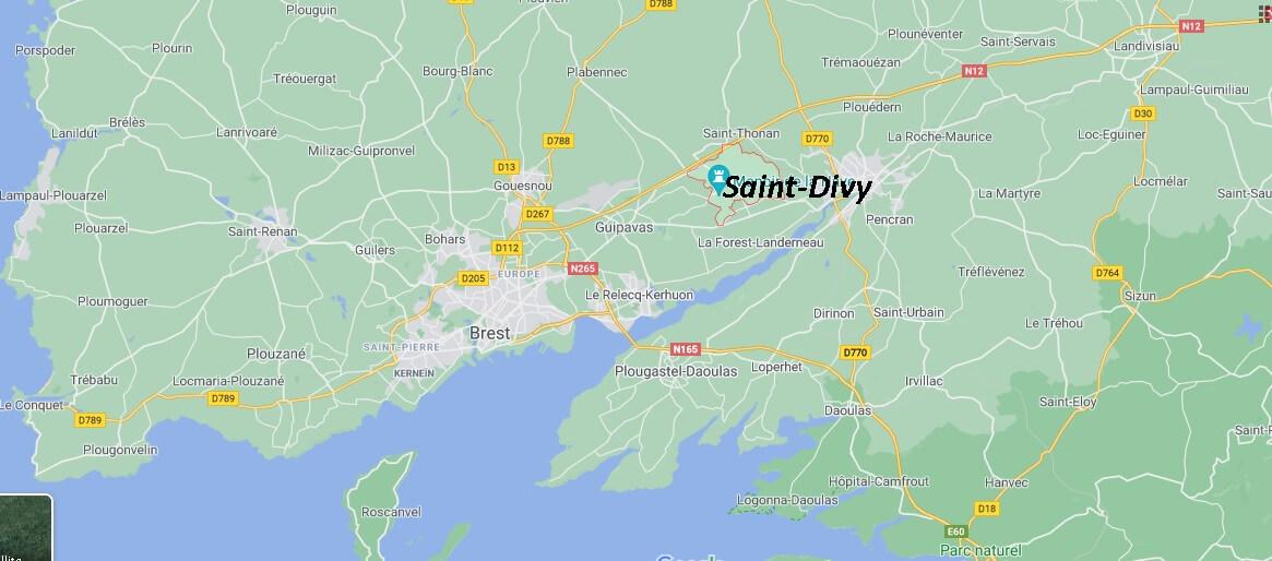 Où se situe Saint-Divy (29800)