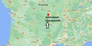 Où se situe Saint-Genès-Champanelle (Code postal 63122)