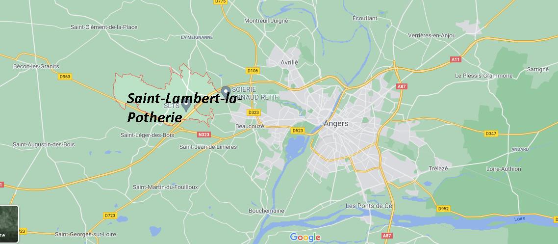 Où se situe Saint-Lambert-la-Potherie (49070)