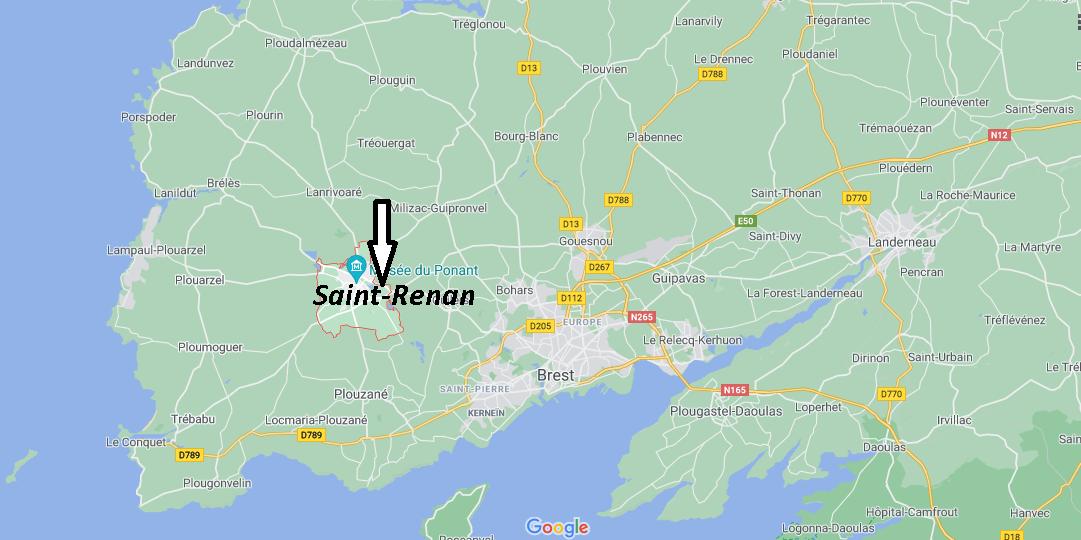 Où se situe Saint-Renan (29290)