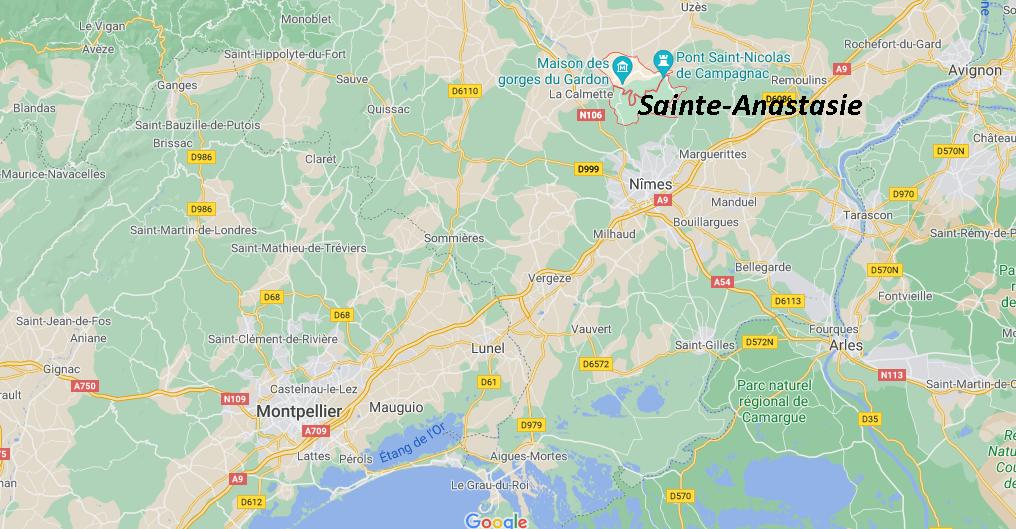 Où se situe Sainte-Anastasie (Code postal 30190)