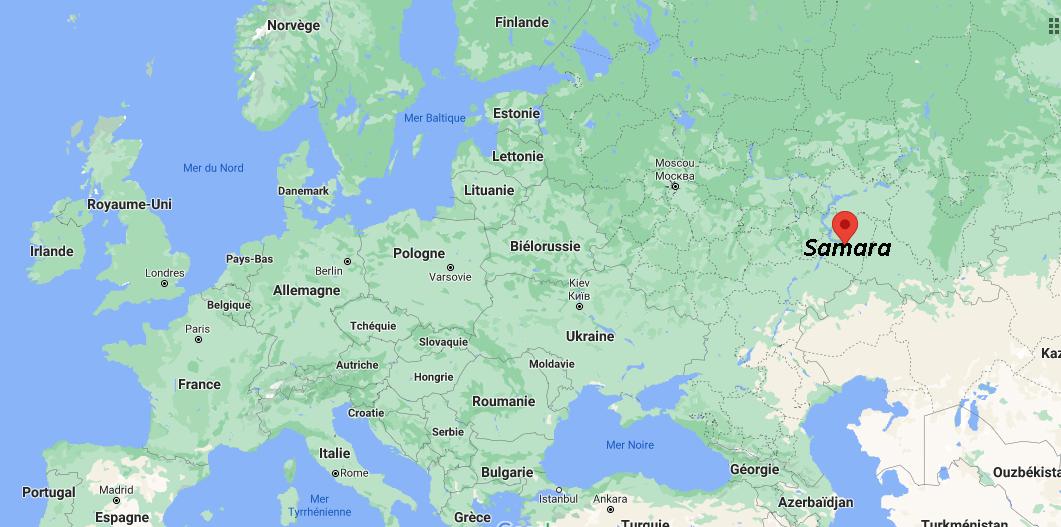 Où se situe Samara