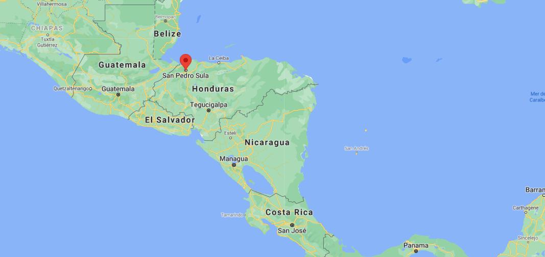 Où se situe San Pedro Sula