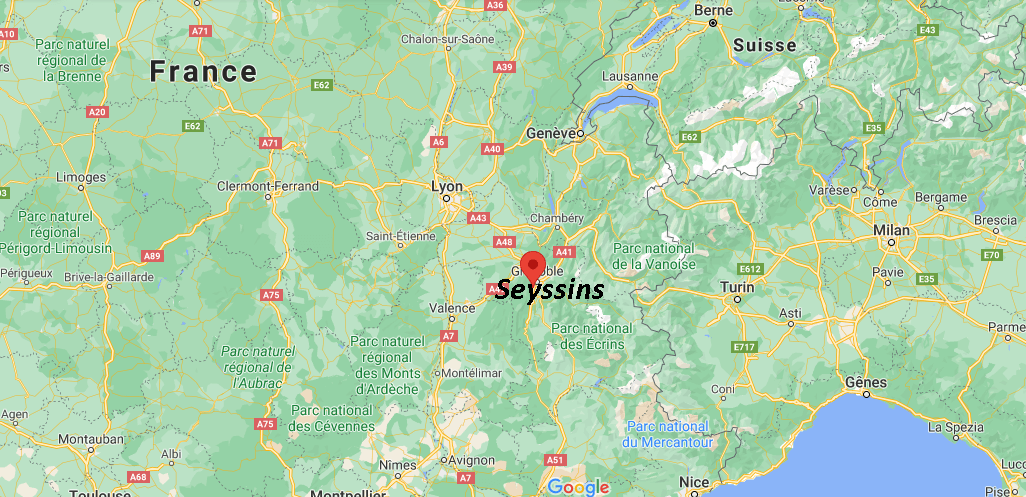 Où se situe Seyssins (38180)