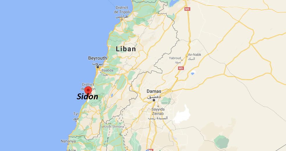 Où se situe Sidon