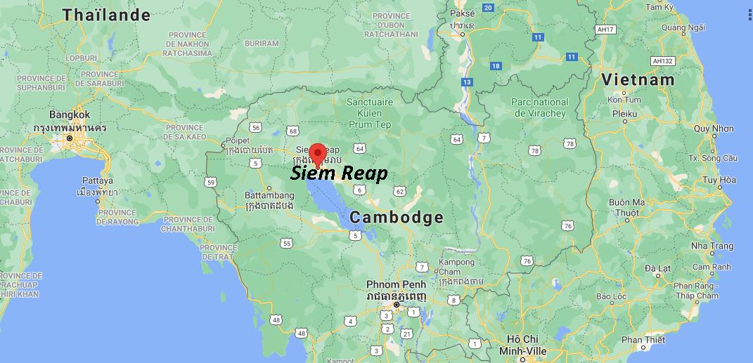 Où se situe Siem Reap