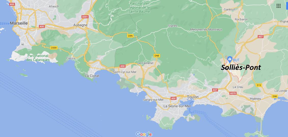Où se situe Solliès-Pont (Code postal 83210)