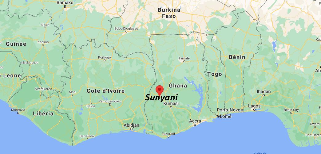 Où se situe Sunyani