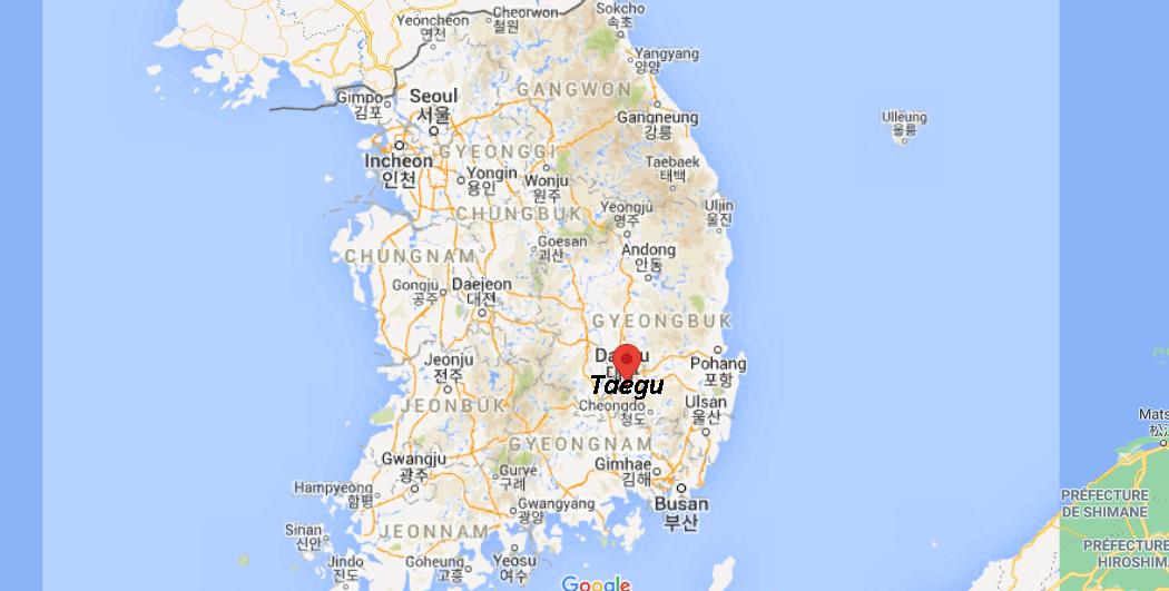 Où se situe Taegu