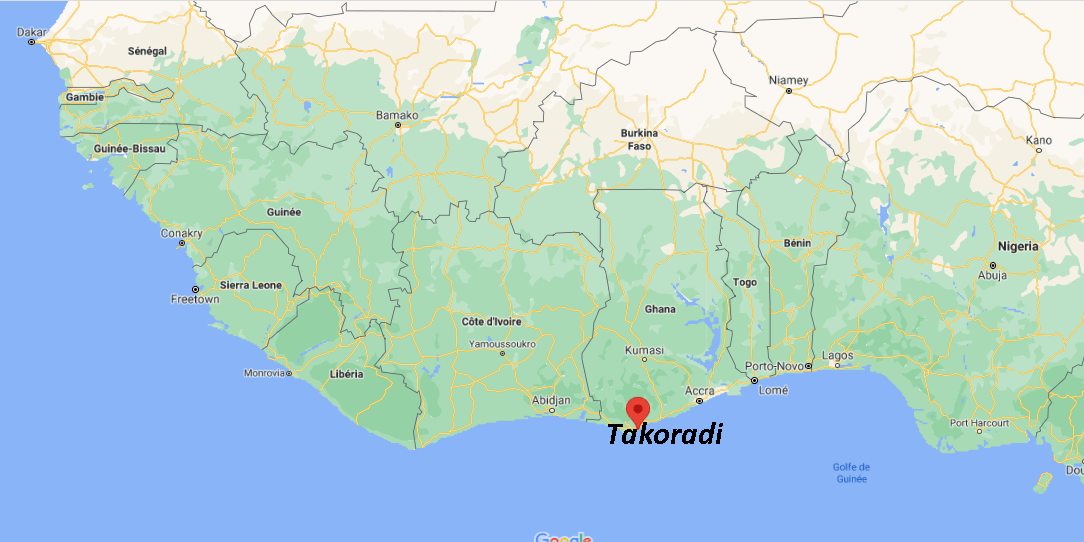 Où se situe Takoradi