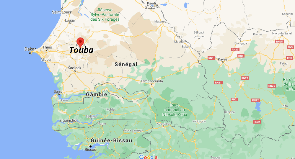 Où se situe Touba