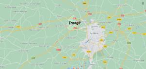 Où se situe Trangé (72650)