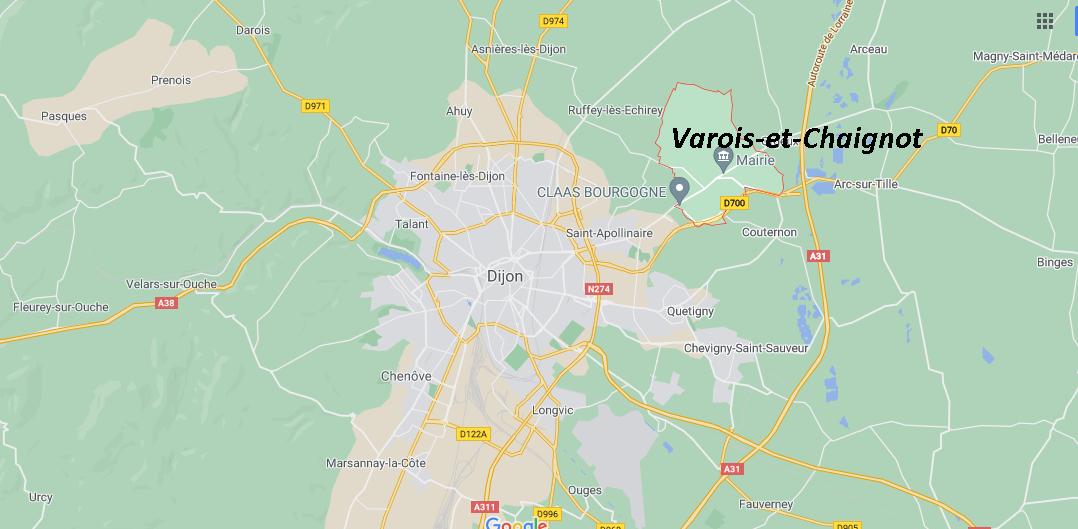 Où se situe Varois-et-Chaignot (21490)