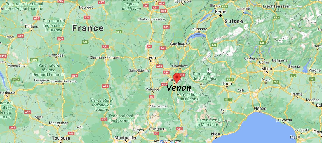 Où se situe Venon (38610)