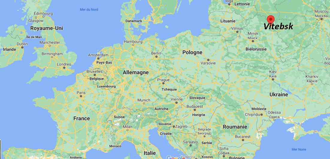 Où se situe Vitebsk