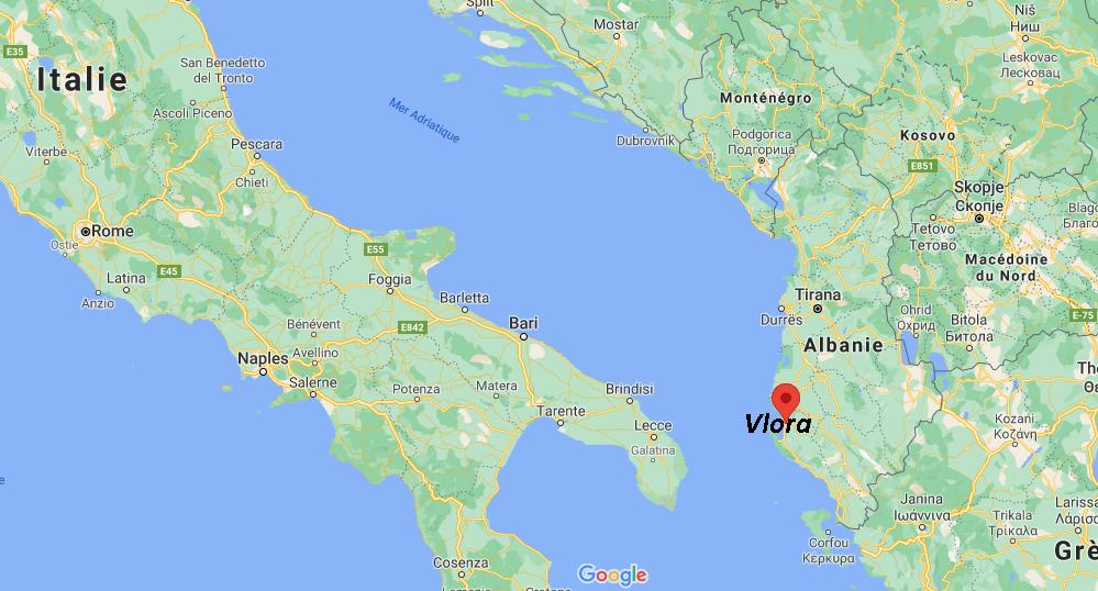 Où se situe Vlora