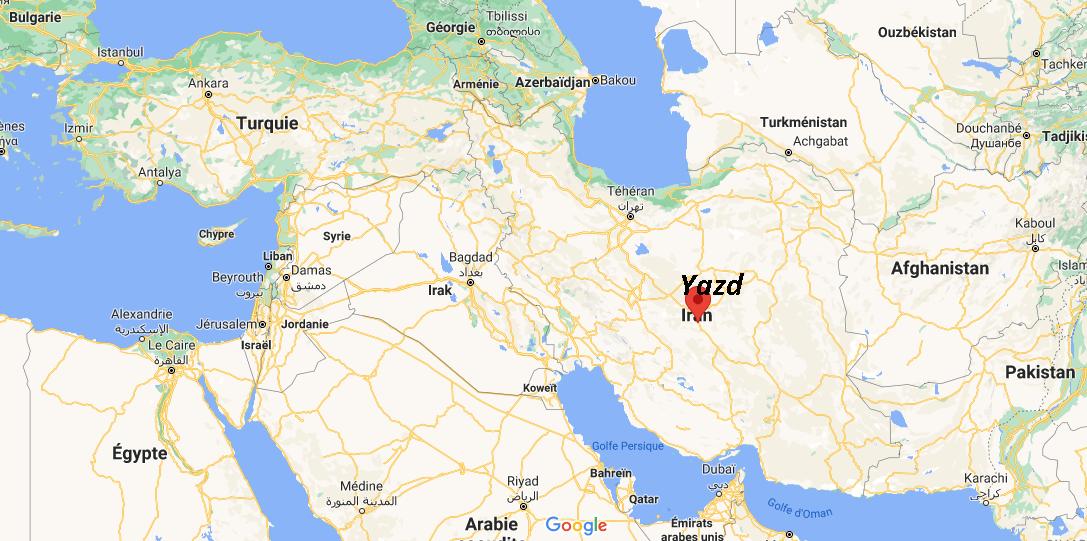 Où se situe Yazd