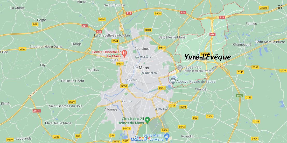 Où se situe Yvré-l'Évêque (72530)
