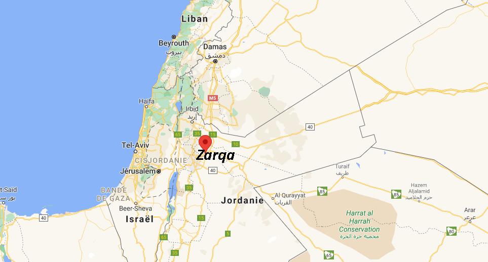 Où se situe Zarqa