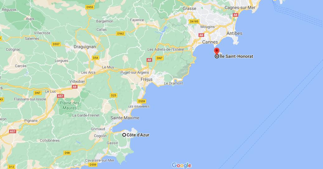 Où se situe île Saint-honorat