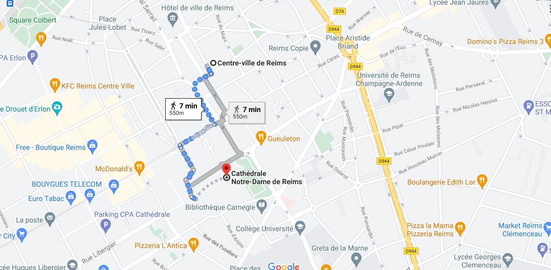 Où se situe la cathédrale de Reims