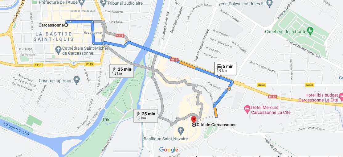 Où se situe la cité de Carcassonne