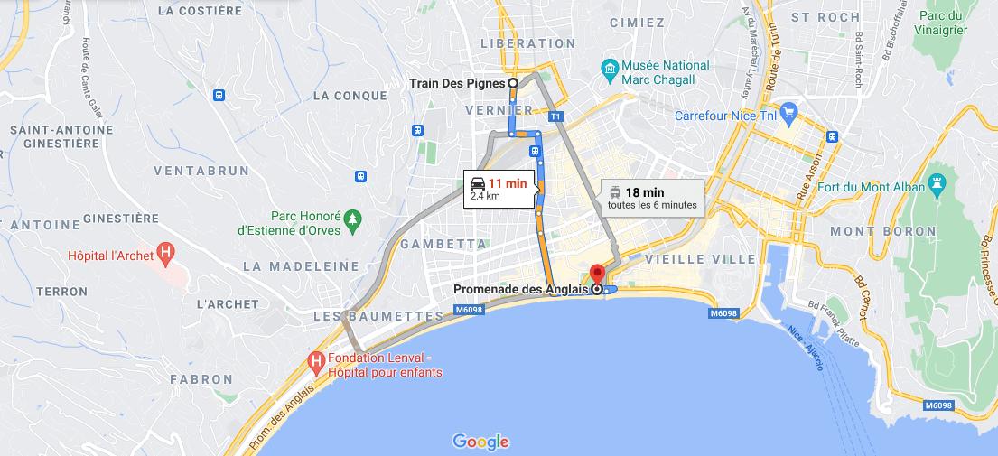 Où se situe la promenade des Anglais