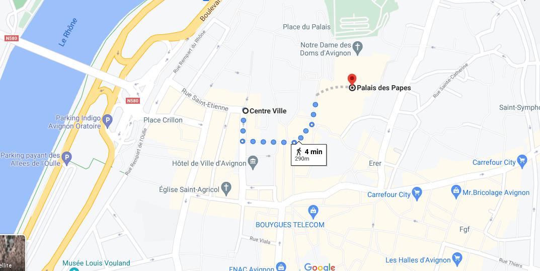 Où se situe le Palais des Papes