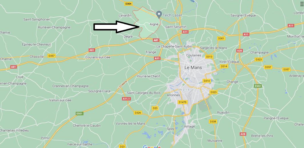 Où se trouve Aigné