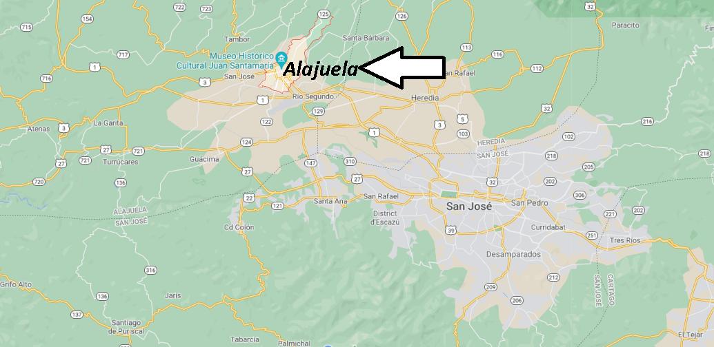 Où se trouve Alajuela