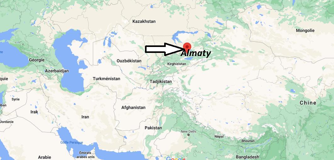 Où se trouve Almaty