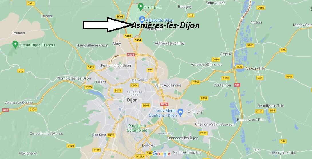 Où se trouve Asnières-lès-Dijon