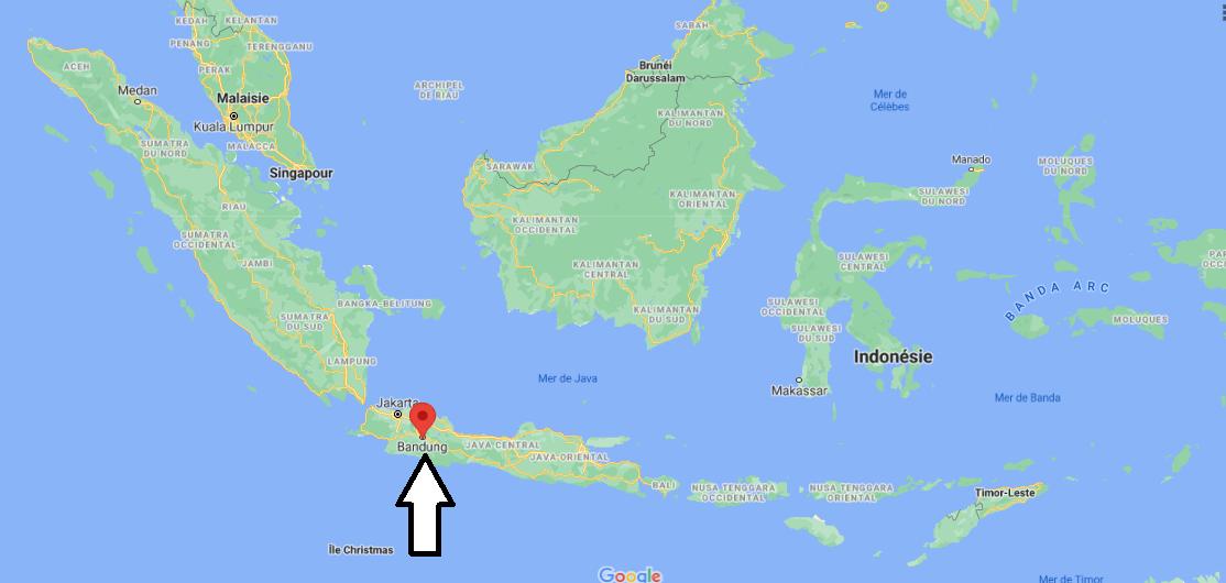 Où se trouve Bandung