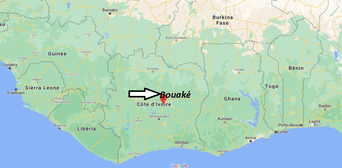 Où se trouve Bouaké