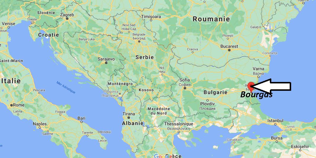 Où se trouve Bourgas