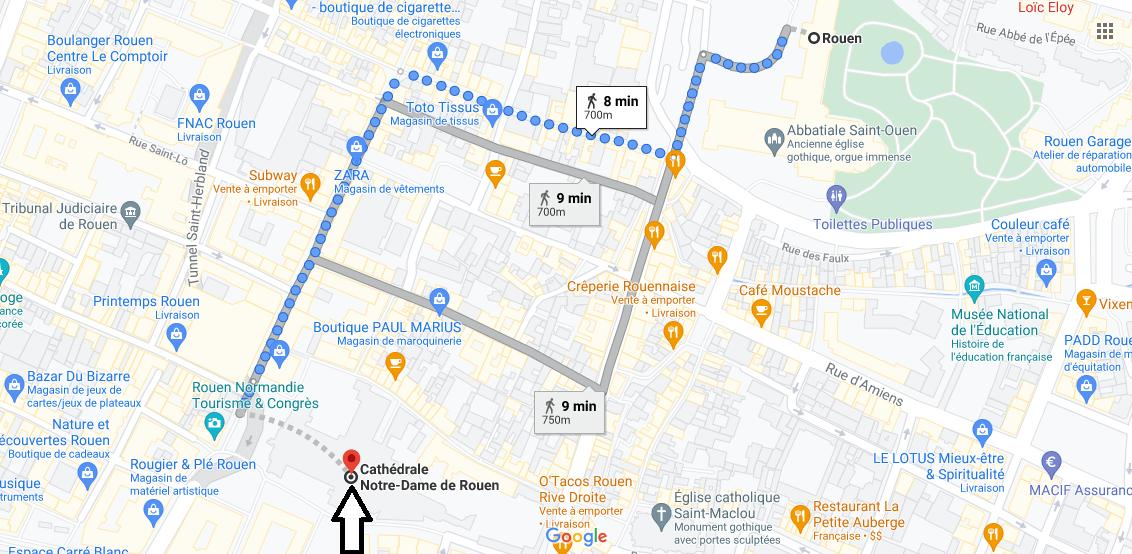 Où se trouve Cathédrale Notre-Dame de Rouen