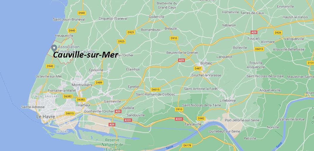 Où se trouve Cauville-sur-Mer sur la carte de France