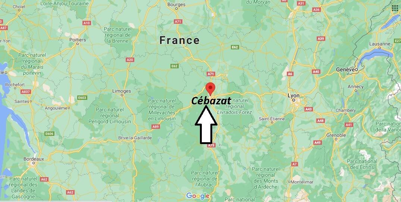 Où se trouve Cébazat