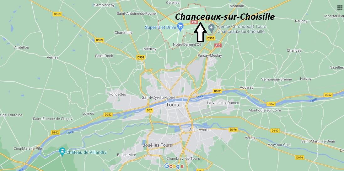 Où se trouve Chanceaux-sur-Choisille