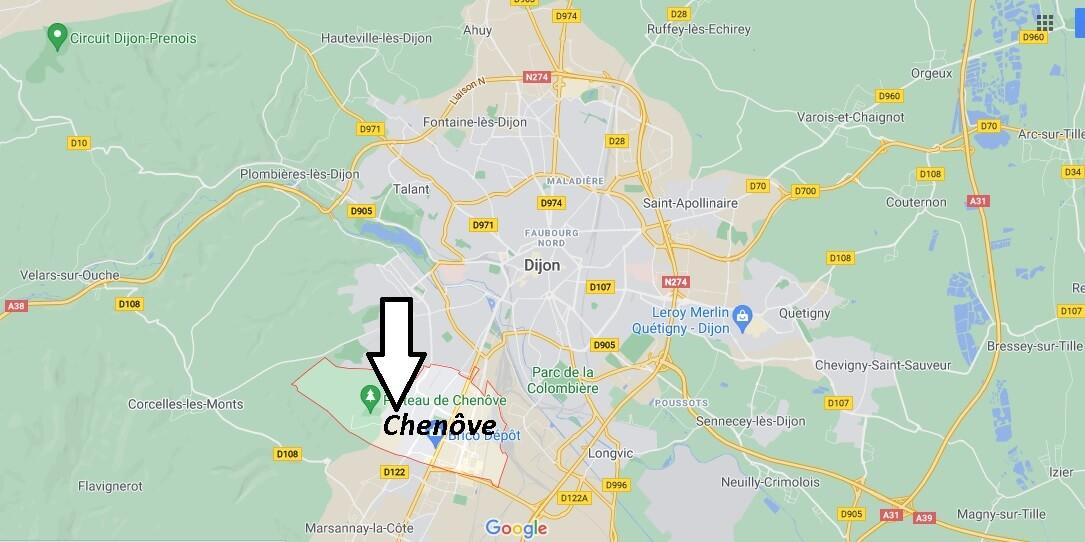 Où se trouve Chenôve