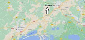 Où se trouve Clarensac