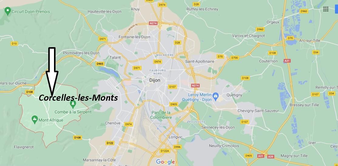 Où se trouve Corcelles-les-Monts