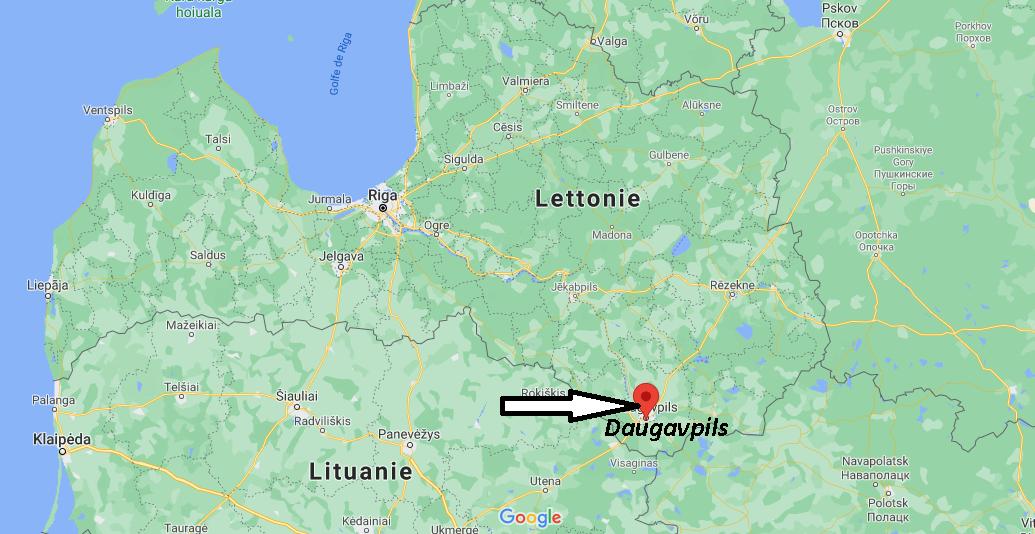 Où se trouve Daugavpils